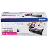 Brother TN 433M Magenta Toner Cartridge, High Yield