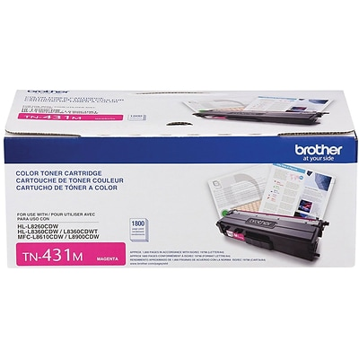 Brother TN 431M Magenta Toner Cartridge, Standard