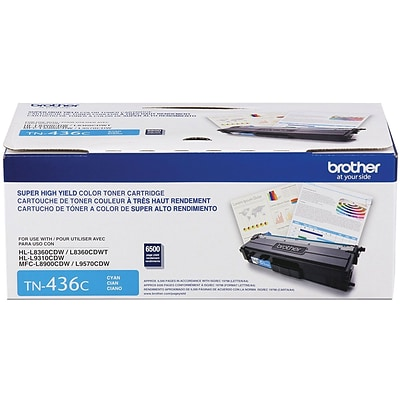 Brother TN 436C Cyan Toner Cartridge, Extra High Yield