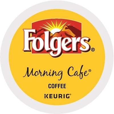 Folgers® Morning Café Coffee, Keurig® K-Cup® Pods, Light Roast, 24/Box (20448)