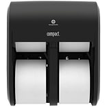 GP Compact Quad® Black Quad Four Roll Coreless Tissue Dispenser, 11.750W x 6.900D x 13.250H