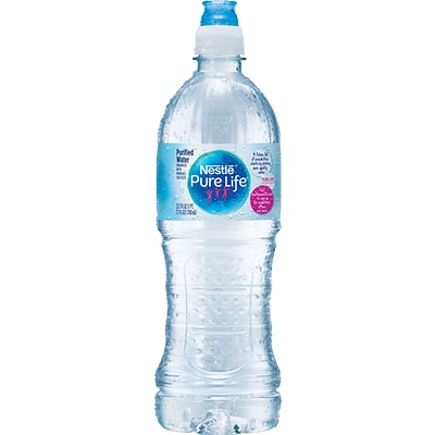 Nestle® Pure Life Water, 700ml Bottles with Sport Cap, 24 Pack