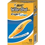 BIC Wite-Out Exact Liner Correction Tape, White, 10/Pack (WOELP10)