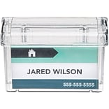 Clear Outdoor Business Card Holder