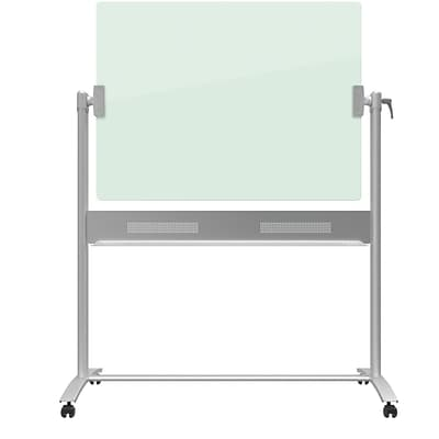 Quartet Infinity™ Glass Dry-Erase Board Presentation Easel, Magnetic and Portable, 4 x 3, Silver Base (ECM43G)