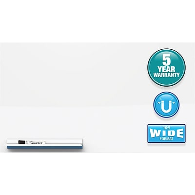 Quartet® Continuum™ Magnetic Whiteboard, 24 x 24, Wide Format, Frameless (FPS2424)
