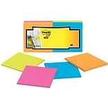 Post-it® Super Sticky Full Adhesive Notes, 3 x 3, Rio De Janeiro Collection, 12 Pads/Pack (F330-12