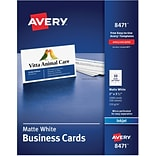 Avery® White 2x3-1/2 Inkjet Business Cards
