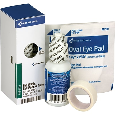 First Aid Only™ ANSI SmartCompliance Refill Eye Wash, Eye Pads & Tape for up to 10 Persons, 1/Box (FAE-6022)