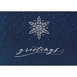 Starry Indigo Holiday Card with Gummed Envelope