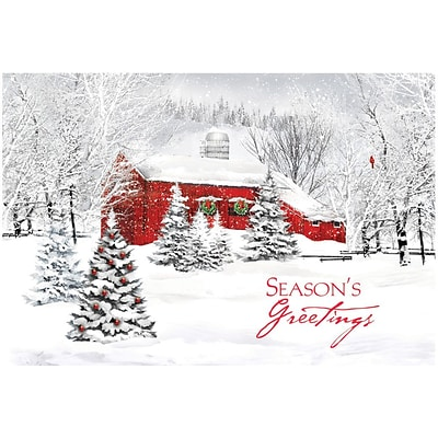 Country Living Holiday Card with Self-Seal Envelope