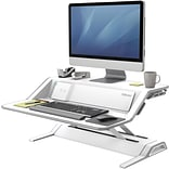 Fellowes Lotus™ DX Sit-Stand Workstation - White (8080201)
