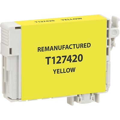 DataProducts Remanufactured Yellow Extra High Yield Ink Cartridge Replacement for Epson 127 (127)