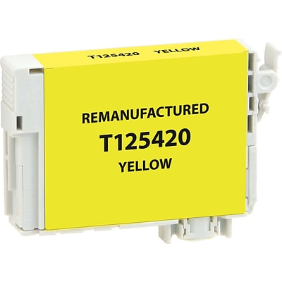 CIG Remanufactured Inkjet Cartridge, Epson T125 (T125420), Yellow