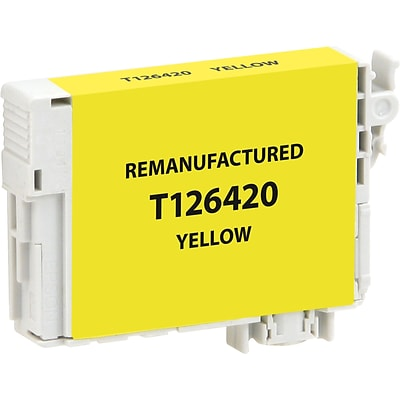CIG Remanufactured Inkjet Cartridge, Epson T126 (T126420), Yellow, High Capacity