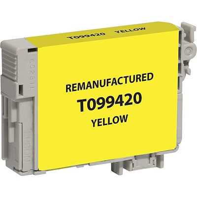 CIG Remanufactured Inkjet Cartridge, Epson 99 (T099420), Yellow)