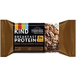 KIND Breakfast Protein Bars Dark Chocolate Cocoa, 8/Box