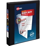 Avery Heavy-Duty View Binder, 1 One Touch Slant Rings, 275 Sheet Capacity, DuraHinge, Black (79699)
