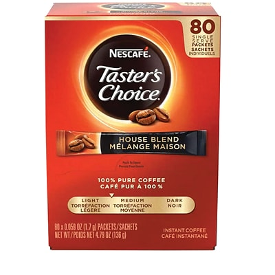 Nescafe® Tasters Choice® Soluble Coffee, House Blend, .07 oz., 80 Packets