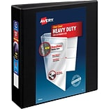 Avery Heavy-Duty View Binder, 2 One Touch Slant Rings, 540 Sheet Capacity, DuraHinge, Black (79692)