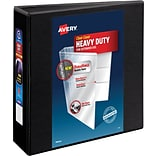 Avery Heavy-Duty View Binder with 3 One Touch Rings, Black (79693)