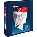 Avery Heavy-Duty View Binder, 2 One Touch Rings, 540 Sheet Capacity, DuraHinge, Navy Blue (79802)