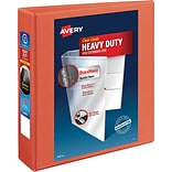 Avery Heavy-Duty View Binder with 2 One Touch EZD Rings, Orange (17598)