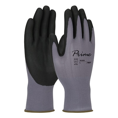 PIP Prime™ Gloves, Gray Nylon Shell, Black Foam Nitrile Grip, Touchscreen Compatible, Large