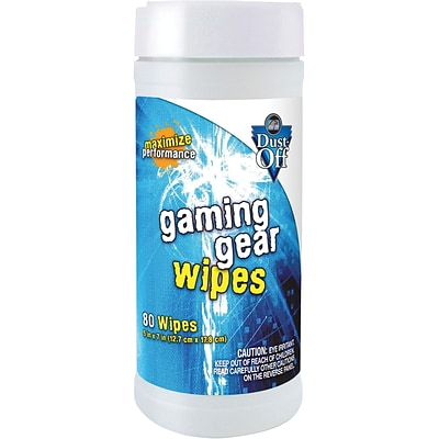 Falcon Dust-Off Gaming Gear Wipes, 80/Container (DFG20035)