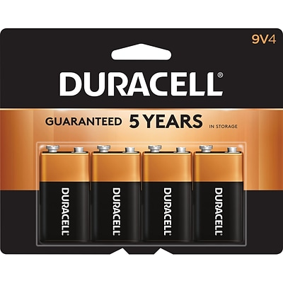 Duracell® Alkaline 9V Batteries, 4-Pack