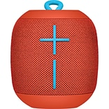 Logitech Ultimate Ears WONDERBOOM Super-Portable Waterproof Bluetooth Speaker, Red