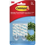 Command™ Medium Hooks, Clear, 2/Pack (17091CLR-ES)