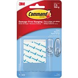 Command™ Medium Refill Strips, Clear, 9/Pack