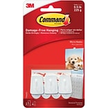 Command™ Micro Hooks, White, 3/Pack (17066ES)