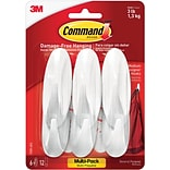 Command™ Medium Designer Hooks Value Pack, White, 6/Pack (17081-6ES)