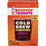 Dunkin Donuts Cold Brew Coffee Packs, 8.46 Oz.