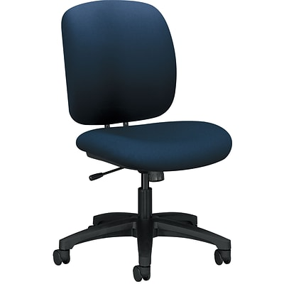 HON ComforTask Chair, Center-Tilt, Navy Fabric NEXT2018 NEXT2Day