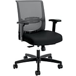 HON Convergence Fabric/Mesh Task Chair, Adjustable Arms, Black (HONCMY1AACCF10)