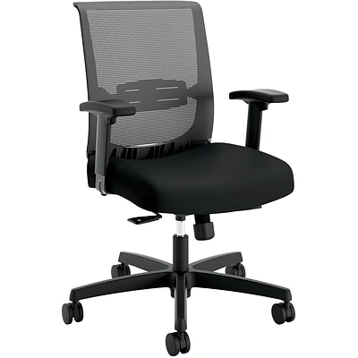 HON Convergence Fabric/Mesh Task Chair, Black, Height- and Width-Adjustable Arms (HONCMY1AACCF10) NEXT2017 NEXT2Day