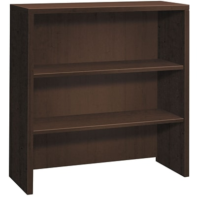 HON 10500 Series 2 Shelves 37-1/8H Bookcase Hutch, Mocha Finish (HON105292MOMO)