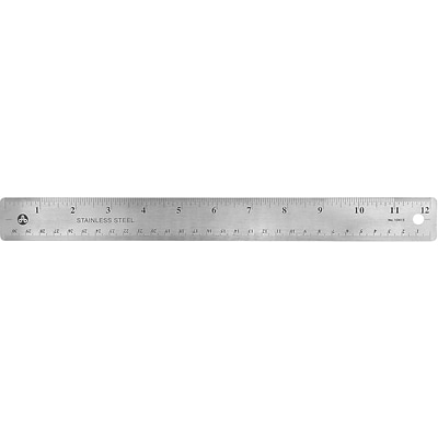 Staples Stainless Steel Ruler with Non Slip Cork Base 12 (51887)