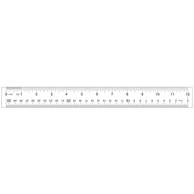 Staples Acrylic Ruler 12 Clear (51882)