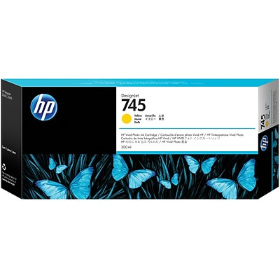 HP 745 300-ml Yellow DesignJet Ink Cartridge