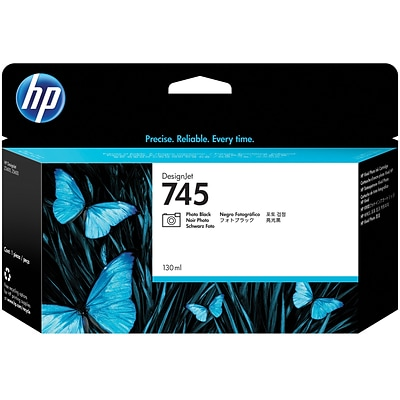 HP 745 130-ml Photo Black DesignJet Ink Cartridge
