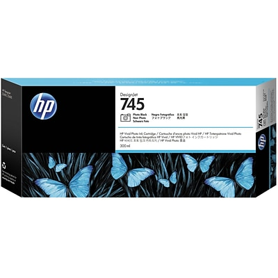 HP 745 300-ml Photo Black DesignJet Ink Cartridge