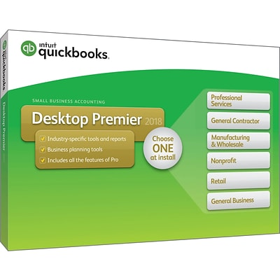 QuickBooks Desktop Premier 2018 (1 User) [Boxed]