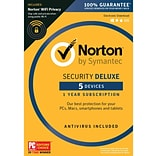Norton Security Deluxe 5 Devices with WiFi privacy for Windows (1 User) [Download]
