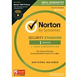 Norton Security Standard 1 Device with WiFi privacy for Windows (1 User) [Download]