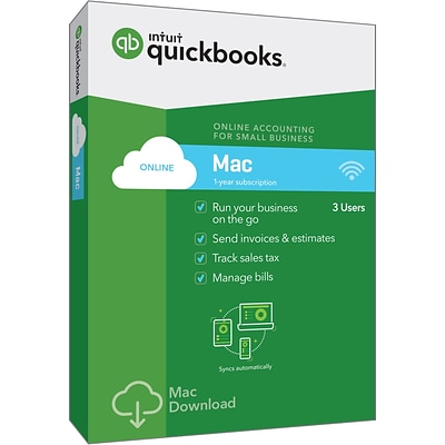 QuickBooks Online for Mac 2018 (1 User) [Boxed]