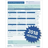ComplyRight™ 2018 Time Off Request and Approval Calendar (A0037), Pack of 50